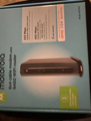 Brand new Motorola cable modem and wifi router for Sale in Houston, TX