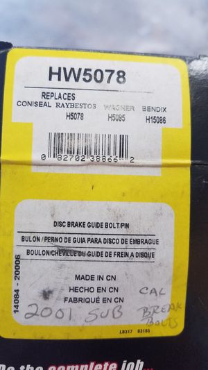 Brake guide pins for Sale in Mohrsville, PA