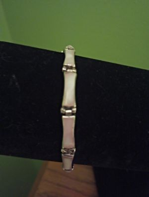 "Sterling silver pink stone bracelet 7.5"" for Sale in Washington, PA"