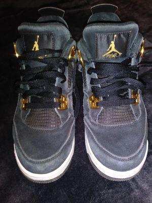 Jordan retro 4 black suede/gold for Sale in Los Angeles, CA