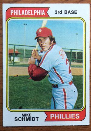 1974 Topps Baseball Card - Mike Schmidt- Philadelphia Phillies for Sale in Middleton, MA