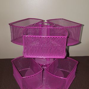 Like New Pink Revolving Cosemetic Basket Holders See Photos .Obo for Sale in Meriden, CT