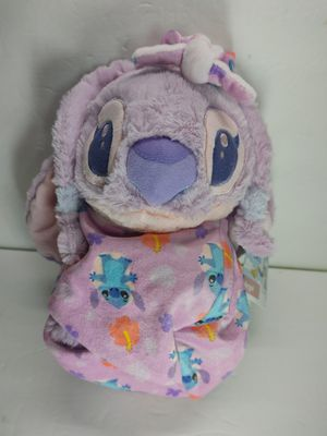 """NEW Disney Parks Lilo & Stitch Angel Plush with Blanket Pouch 10"""" Babies NWT for Sale in Garden Grove, CA"""