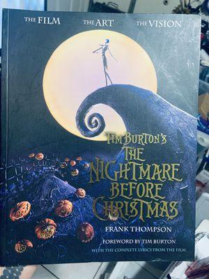 Nightmare Before Christmas Art Book for Sale in La Puente, CA