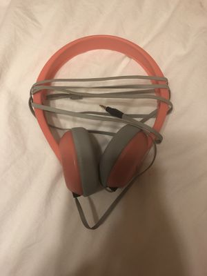 Kids' Skullcandy headphones (color: coral) for Sale in CONCORD FARR, TN