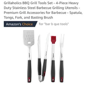 New Grill Set - 4 Piece BBQ Tools - Heavy Duty Stainless Steel Premium Grilling Utensils new for Sale in Lewisville, TX