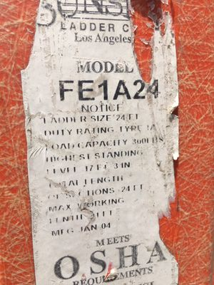 Fiberglass ladder 24ft whit extension for Sale in Downey, CA