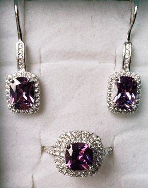 Amethyst and cz diamond set for Sale in Baltimore, MD