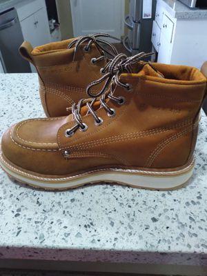 Leather Work Boots-Bota de Trabajo de Mexico de Piel for Sale in Orange, CA