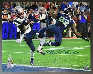 Malcolm Butler Autographed 16x20 Patriots Super Bowl 49 Interception Photo w/ COA for Sale in Billerica, MA