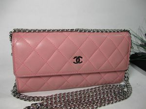 Chanel Pink Lambskin Leather CC Long Bag Wallet for Sale in Lakemoor, IL