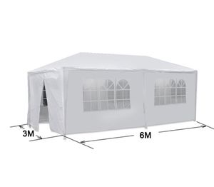 White Outdoor Gazebo Tent with 6 Removable Walls 10'x20' for Sale in Santa Clara, CA