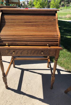 Solid wood roll top desk for Sale in Aurora, CO