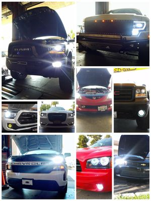 CSP Car LED lights kit MODEL 9007 H13 with 1 year WARRANTY. Easy plug and play Car CSP LED headlights set for Sale in West Covina, CA