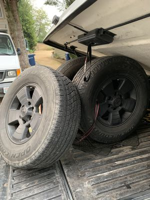 Blacked out Gen 2 Toyota Tacoma tires and rims *Excellent Tread* for Sale in Renton, WA