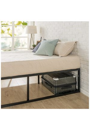 Queen bed frame, wooden/metal for Sale in Jersey City, NJ
