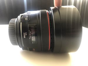 50mm 1.2 EF canon lense for Sale in Los Angeles, CA