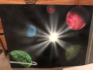 Spray paint art painting for Sale in Fitzgerald, GA
