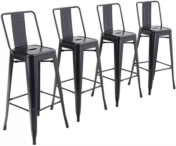 Metal Bar Stools (Set of 4)