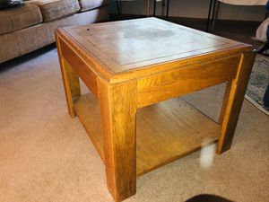 Solid wood end table 26x24x20H for Sale in San Jose, CA