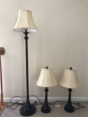 3- Piece Lamp Set- Bronze for Sale in Columbia, MD