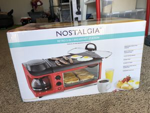 3 in 1 breakfast machine toaster coffee maker griddle for Sale in Irving, TX