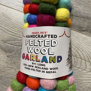 Trader's Joe Handcrafted Felted Wool Garlands for Sale in City of Industry, CA