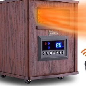 FLAMEMORE Infrared Heater with Remote Control 1500W 6-Element Infrared Heater Quiet for Indoor Use Wood for Sale in Los Angeles, CA