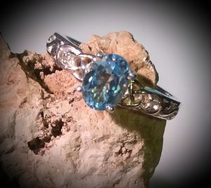 Genuine Skyblue Topaz size 9 for Sale in Georgetown, TX