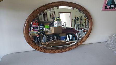 Oak mirror oval 21in x 29in for Sale in Auburn,  WA