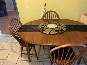 Kitchen table with 4 chairs clock and runner for Sale in NW PRT RCHY, FL