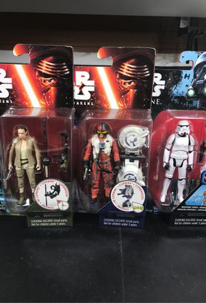 Star Wars action figure lot stormtrooper Rey Poe Dameron for Sale in Miami, FL