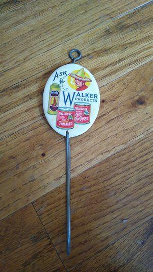 Antique Walker advertising hook for Sale in Portland, OR