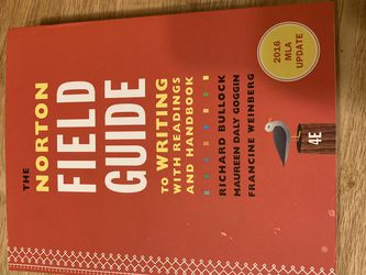The Norton Field Guide To Writing With Reading And Handbook for Sale in Philadelphia,  PA