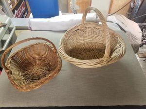 2 Wicker Rattan Baskets for Sale in Auburn, WA