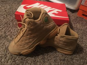 Jordan retro 13 wheat only wore 1 time like new (size 81/2 for Sale in Ocala, FL