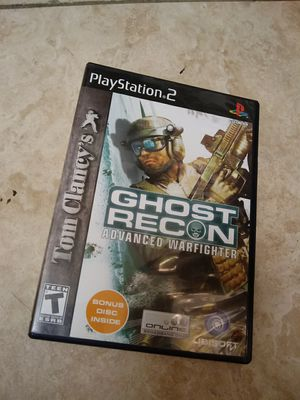 PS2 - ghost recon - Tom Clancy - Ubisoft - games - network adapter eight players - Logitech PS2 USB headsets for Sale in Naples, FL