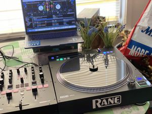 Rane Twelve turntable and Numark Scratch Mixer $1300 with dj speakers for Sale in Chelmsford, MA