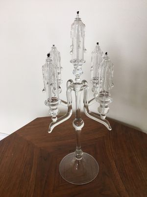 Catskill Mountain Crystal 5-Stem Wedding Candelabra for Sale in Portland, OR