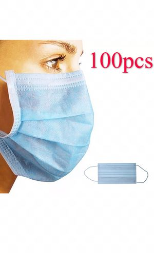 100pc Disposable Earloop Anti-Dust Face Mask Surgical Medical Virus Health Protection for Sale in Industry, CA