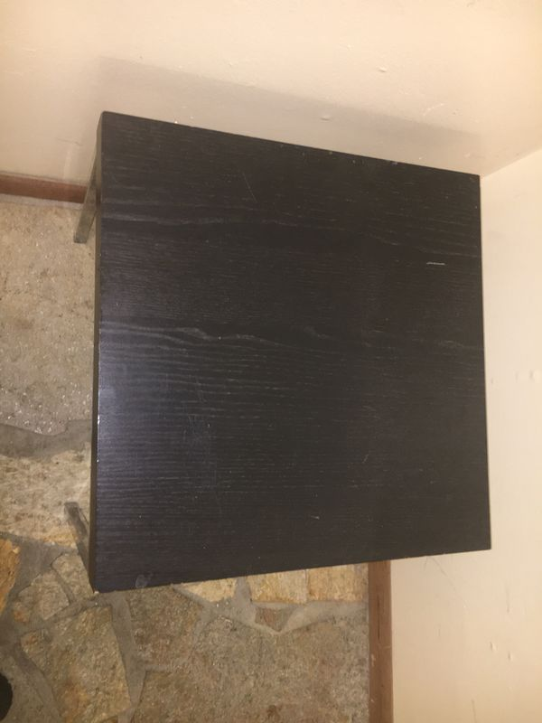 Wood table with aluminum legs