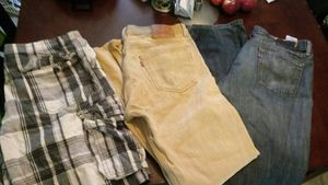 All size 34 Mens. 2 pairs of Levis jeans and pair of shorts for Sale in Portland, OR