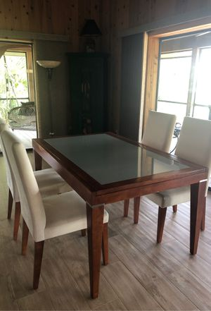 Dining table and 4 upholstered chairs for Sale in Lorida, FL