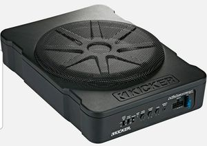 """KICKER 46HS10 CAR AUDIO 10"""" HIDEAWAY POWERED SUBWOOFER SUB ENCLOSURE W/AMPLIFIER for Sale in San Diego, CA"""