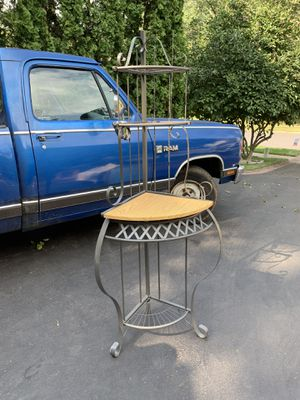 Corner metal / wooden shelf for Sale in Blue Bell, PA