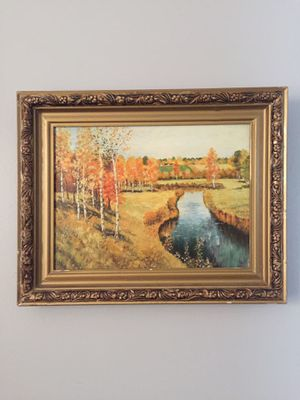 Painting on canvas framed 20/16 for Sale in Chicago, IL