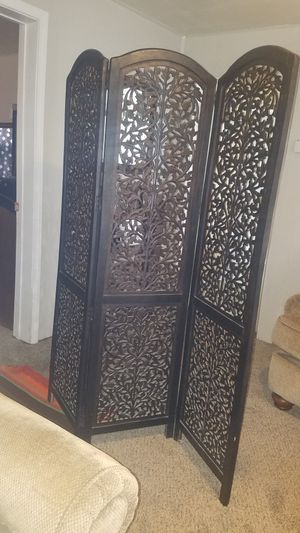 Wooden 3 panel room divider for Sale in Boonville, IN