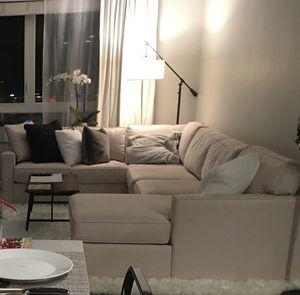 Vanilla Creme 3 Piece Sectional Couch Sofa for Sale in Santa Clara, CA