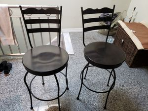 Bar Stools (2) 28inch high seat for Sale in Queens, NY