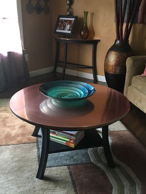 Exclusive Copper Coffee & Copper Console Table for Sale in Silver Spring, MD